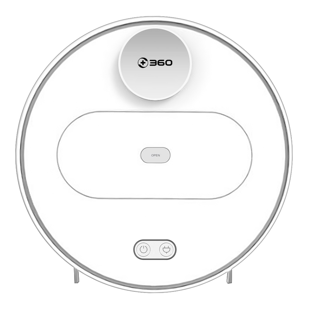 360 S6 Automatic Robotic Vacuum Cleaner 1800Pa Suction LDS Path Planning 2 in 1 Sweeping Mopping - White