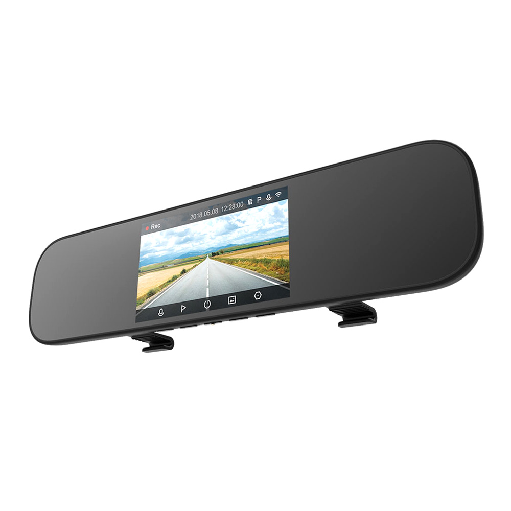 Xiaomi Mijia Smart Rearview Mirror 5 Inch IPS Display Car DVR Camera With Intelligent Voice Control Parking Monitoring Dual Recording Front And Back - Black