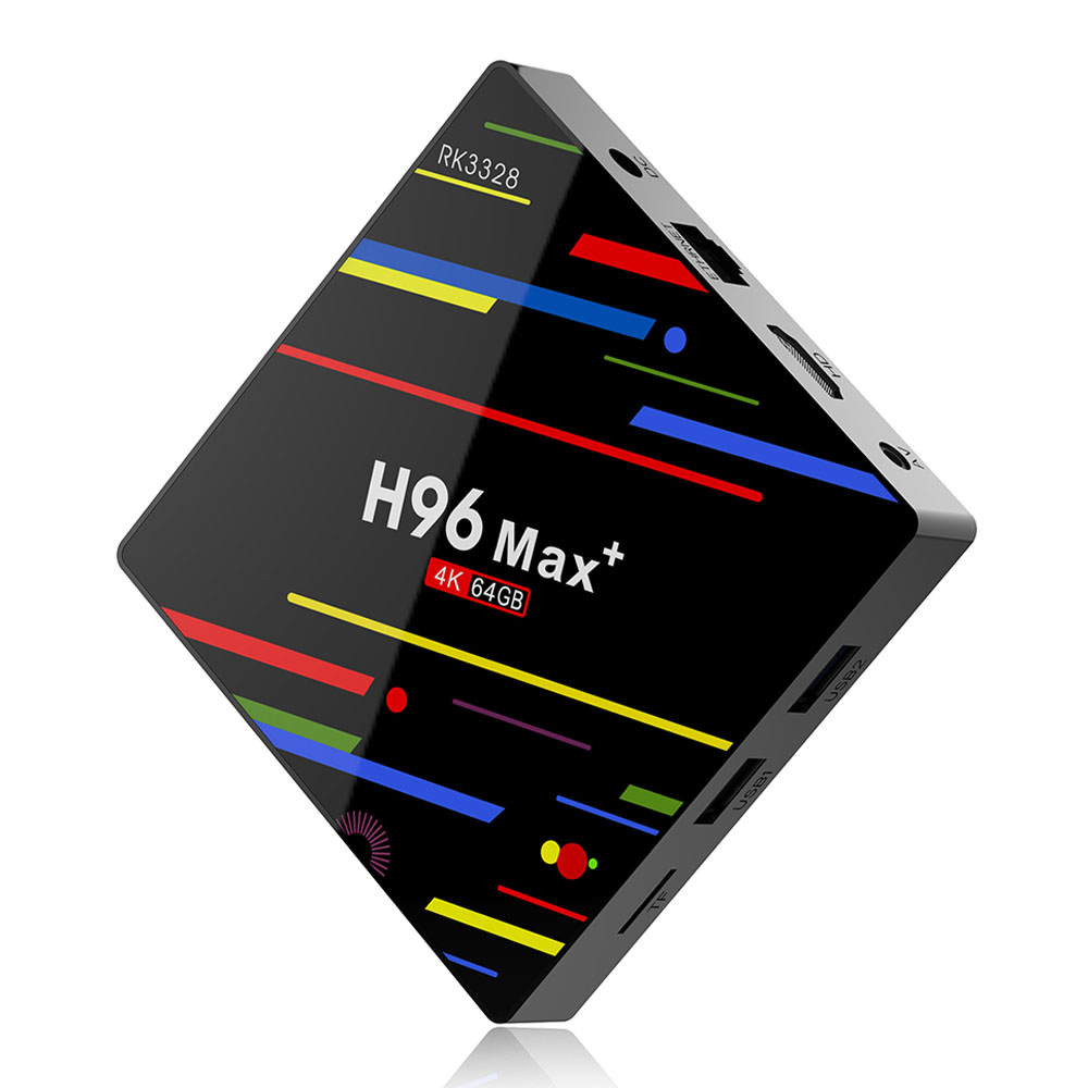 H96 MAX + RK3328 And​​roid 8.1 4GB / 64GB KODI 17.6 4K TV BOXサポートYouTubeデュアルバンドWiFi LAN USB3.0 H.265デコード