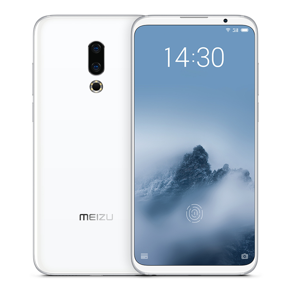 Meizu 16th Plus 6.5 Inch 4G LTE Smartphone Snapdragon 845 8GB 128GB 12.0MP+20.0MP Dual Rear Cameras Flyme 7 Fast Charge In Display Fingerprint  - White