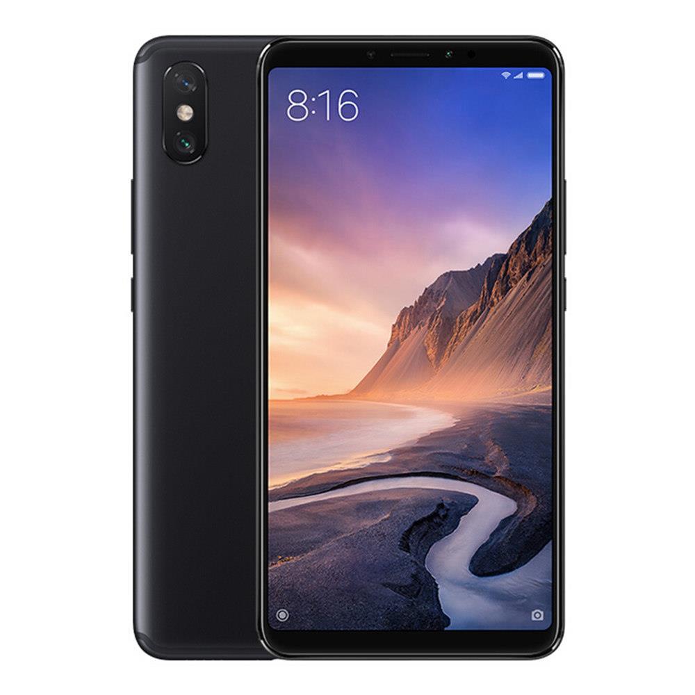 Xiaomi Mi Max 3 6.9 hüvelyk 4G LTE okostelefon Snapdragon 636 4GB 64GB 12.0MP + 5.0MP kettős hátsó kamera Android 8.1 5500mAh C típusú OTG Touch ID globális verzió - fekete