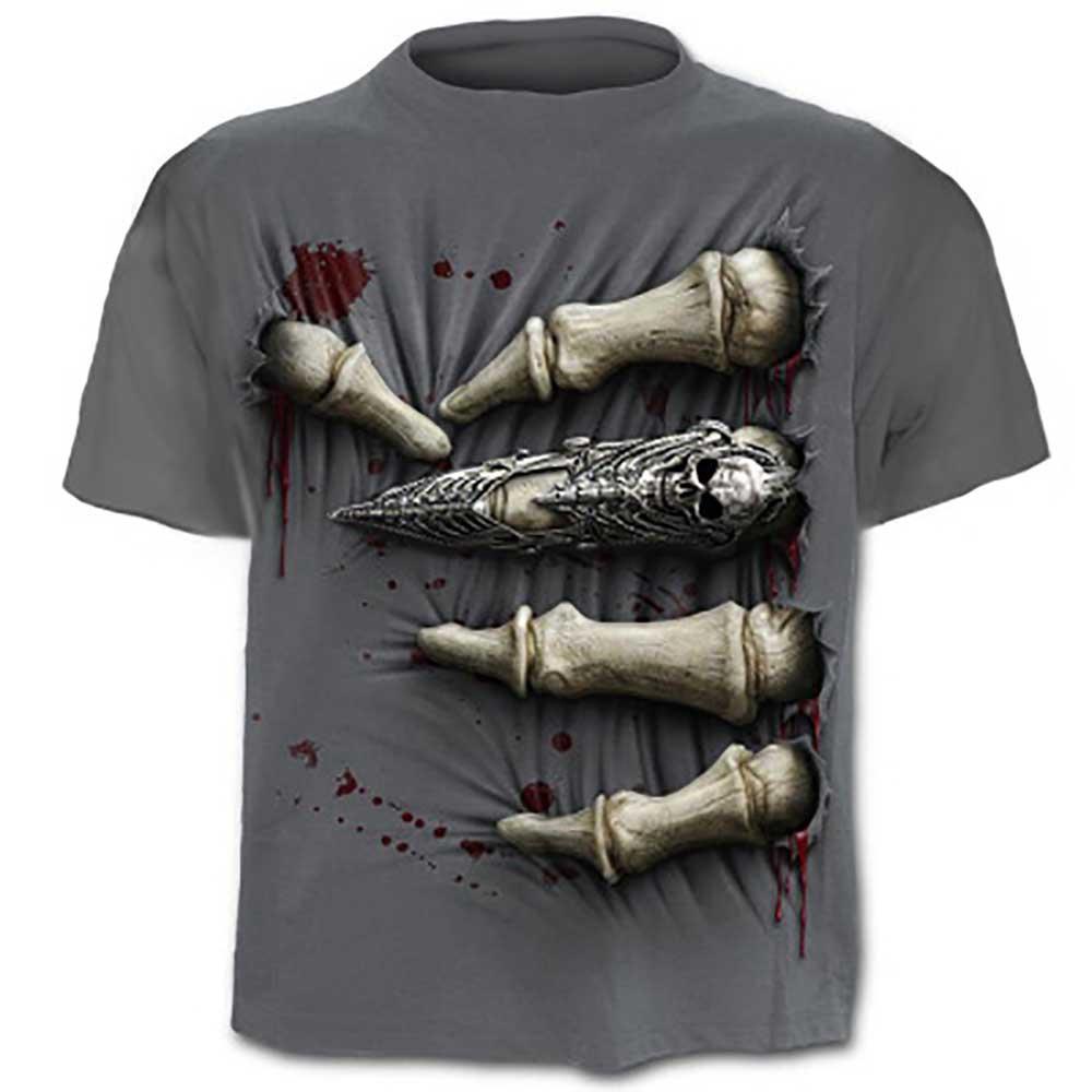 T-shirt manica corta da uomo stampata 3D taglia XXL
