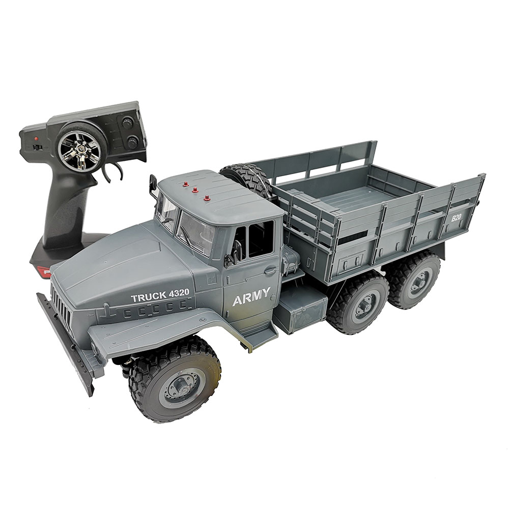 MZ YY2004 RC Car 2.4G 1:12 6WD Brushed Off-road Military Truck RTR - Army Green