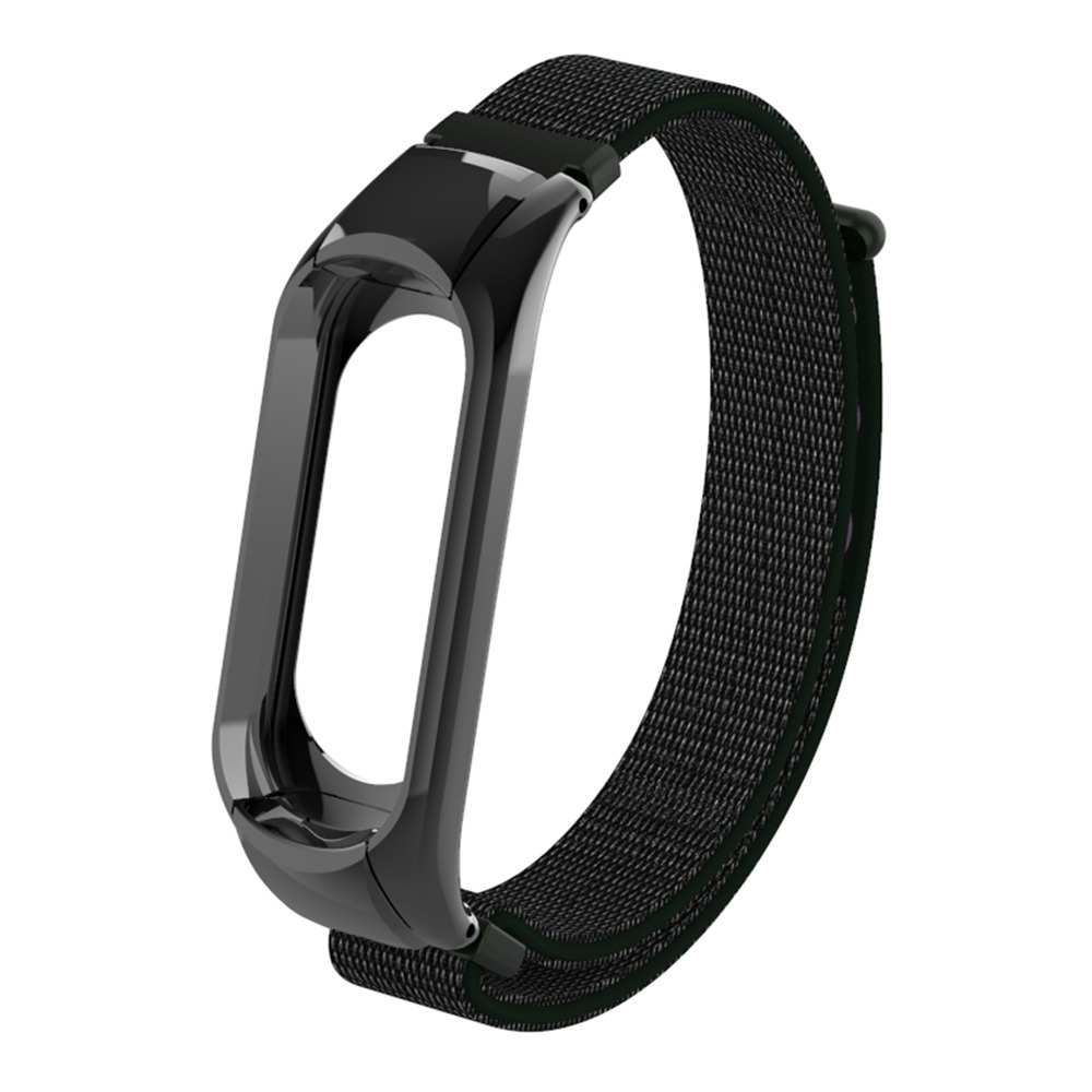 Replaceable Canvas Wrist Strap For Xiaomi Mi Band 3 Smart Bracelet - Olive Green Other