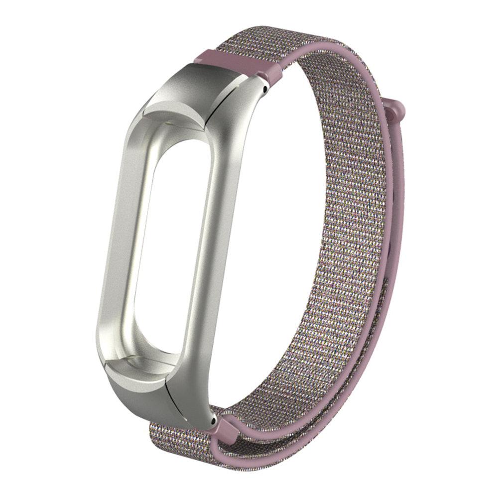 Austauschbare Leinwand Handschlaufe für Xiaomi Mi Band 3 Smart Armband - Pink