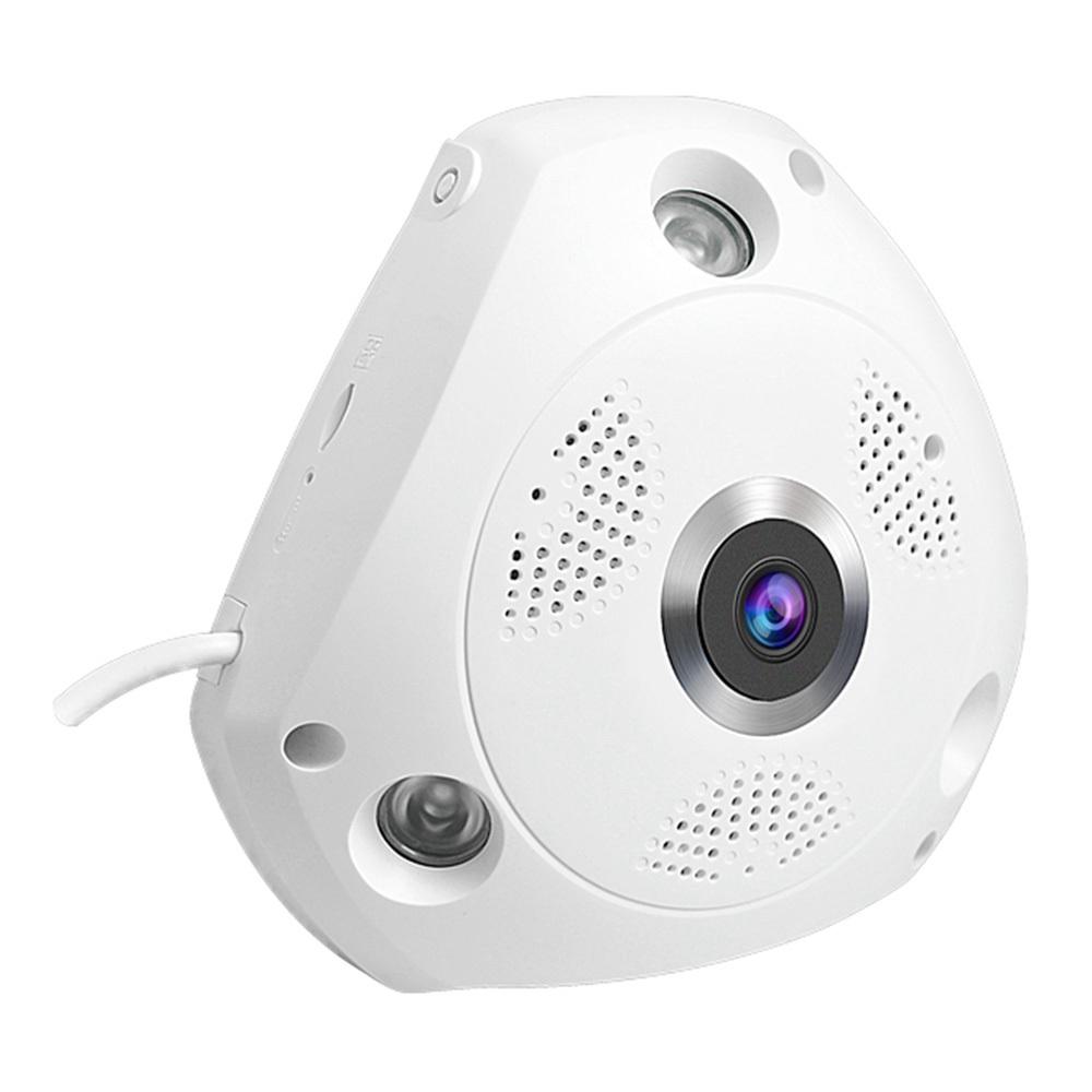 Vstarcam C61S 1080P WiFi Cámara infrarroja con ojo de pez infrarrojo Cámara de visión nocturna con compresión H.264 - Blanco US Plug