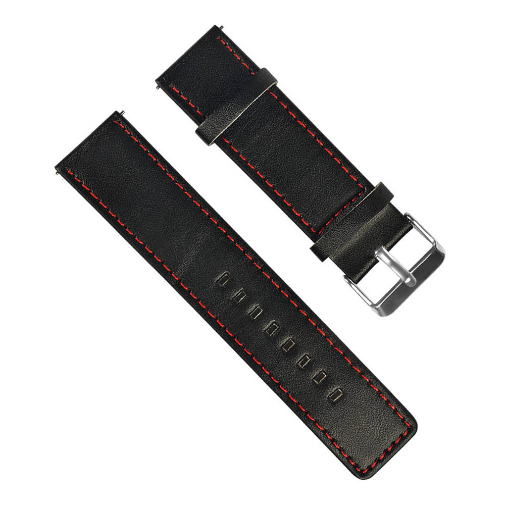 Παγκόσμια 22mm Αντικαταστάσιμη PU Δερμάτινη Ρολόγια Βραχιόλι Βραχιόλι Band Για Χουάμι Amazfit Stratos 2 / 2S Pace - Μαύρο + Κόκκινο