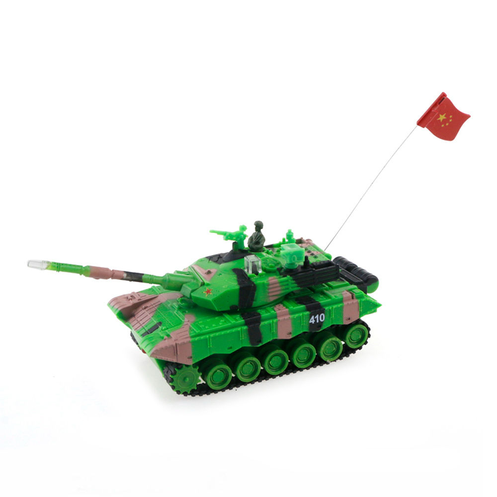 9816A 1: 64 Rotating Turret Infrared Battle RC Serbatoio RTR - Camouflage Green