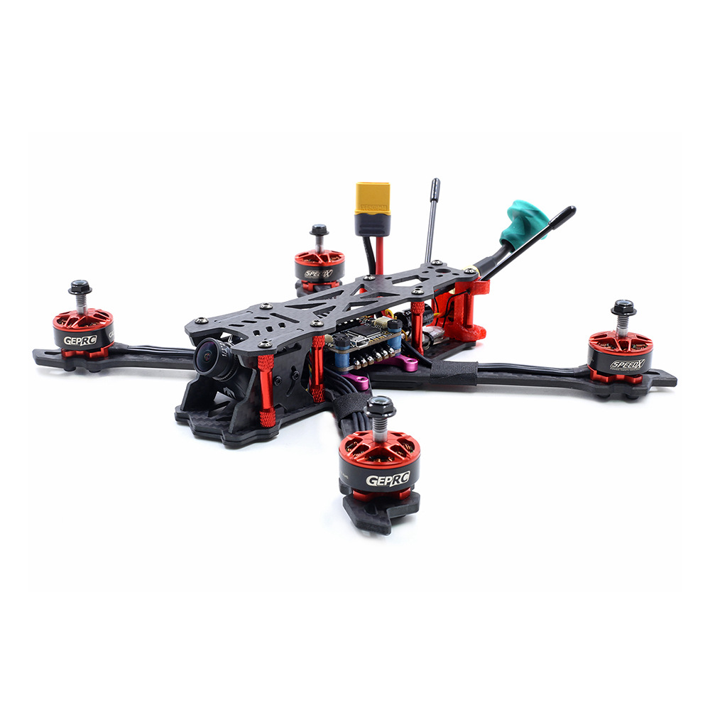 GEPRC Mark2 230mm FPV Racing Drone F405 FC OSD 5V / 3A BEC BLHeli_s 40A 2-5S ESC 5.8G 48CH VTX R-XSR Ricevitore BNF - Rosso