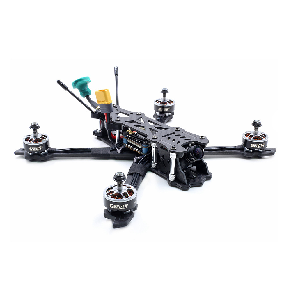 GEPRC Mark2 230mm FPV Racing Drone F405 FC OSD 5V / 3A BEC BLHeli_s 40A 2-5S ESC 5.8G 48CH VTX R-XSR Ricevitore BNF - Argento