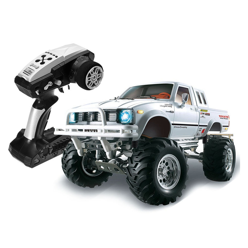 HG P407 2.4G 1:10 4WD Brushed Off-road RC Climbing Car for TOYATO Pickup Truck RTR - White