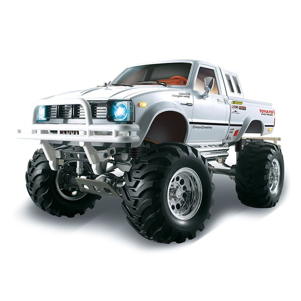 HG P407A 2.4G 1: 10 4WD Spazzolato Off-road RC Climbing Car per TOYATO Pickup Truck Kit - Bianco