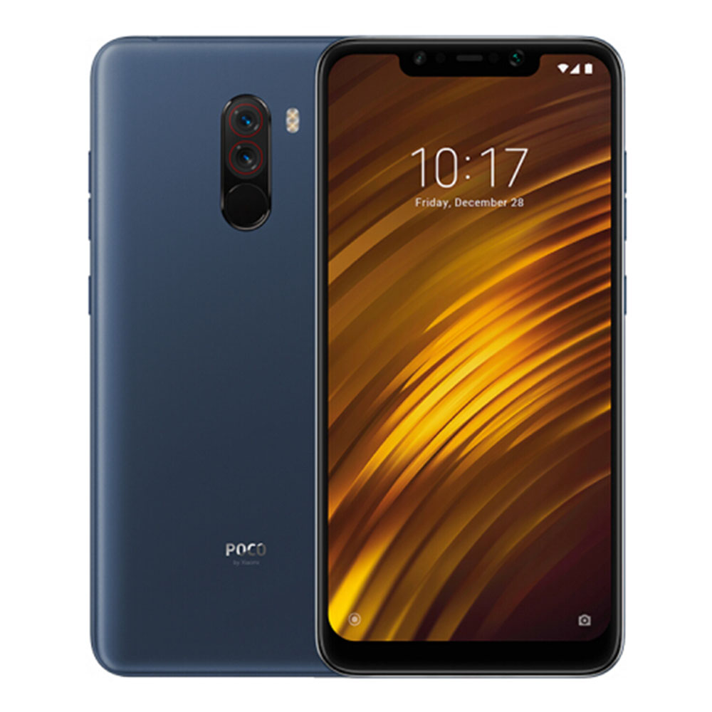 Xiaomi Pocophone F1 6.18 Inch 4G LTE Smartphone Snapdragon 845 6GB 64GB 12.0MP+5.0MP Dual Rear Cameras MIUI IR Face Unlock Type-C Fast Charge Global Version - Steel Blue