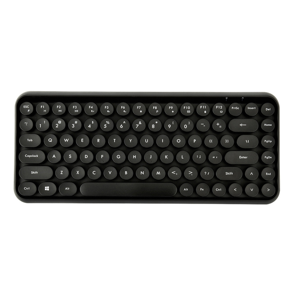 Ajazz 308i Bluetooth 3.0 Wireless Keyboard 84 Classic Round Keys Support Windows/iOS/Android And Other Common Systems - Black