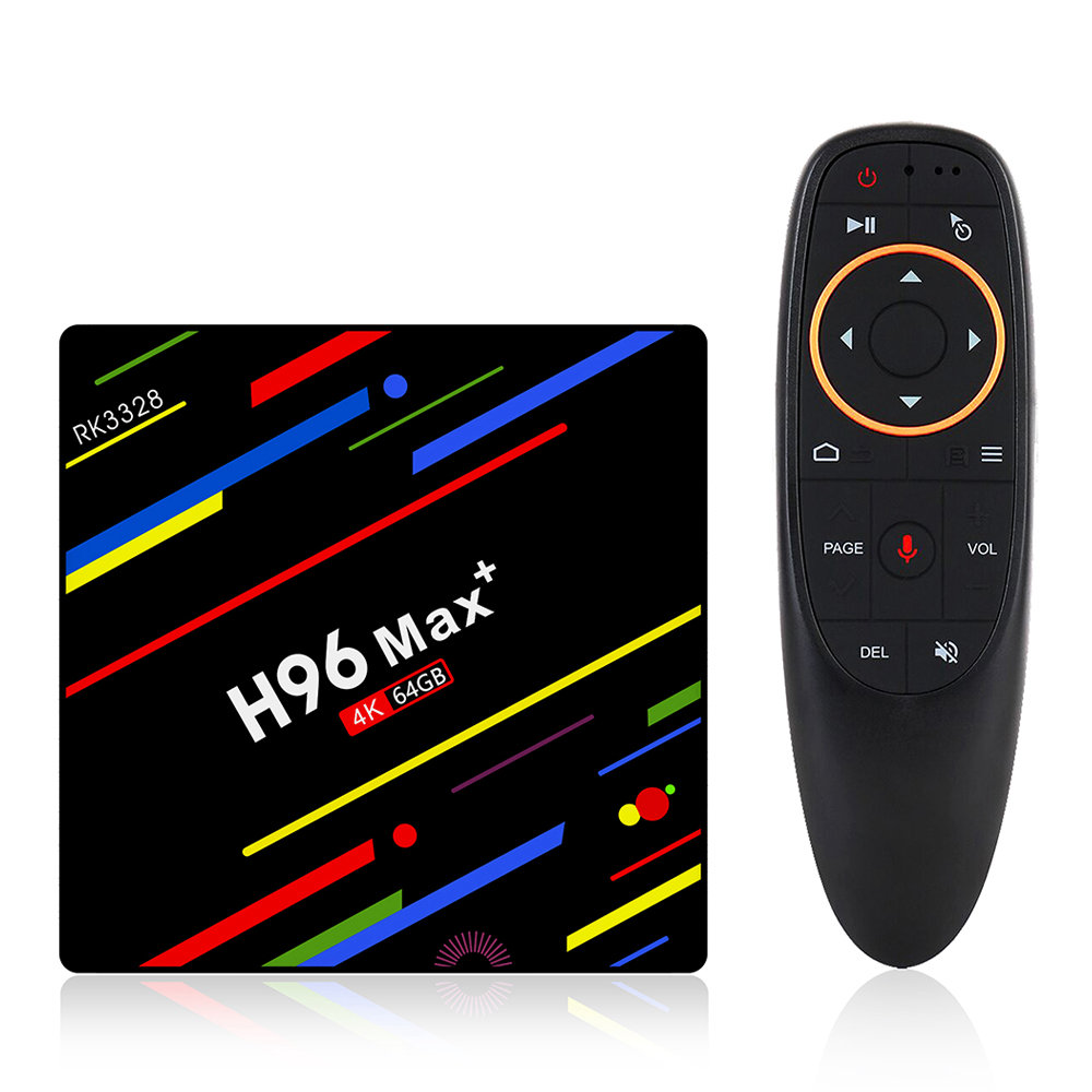H96 MAX+ Android 8.1 RK3328 KODI 17.6 4GB/64GB 4K TV BOX with Voice Remote Support YouTube Dual Band WiFi LAN USB3.0