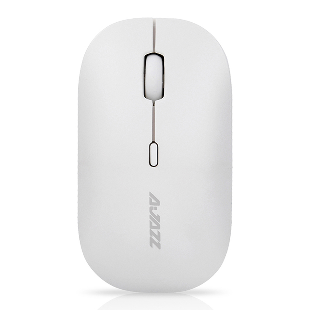 Ajazz I18 Wireless 2.4G Dual Mode Mouse Eenvoudige dempingsfunctie voor Office Gaming Mouse - White