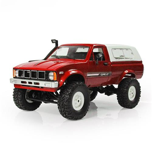 WPL C-24 2.4G 4WD 1: 16 Off Road Rock Crawler Zanzara con LED anteriore RC Car RTR - Rosso