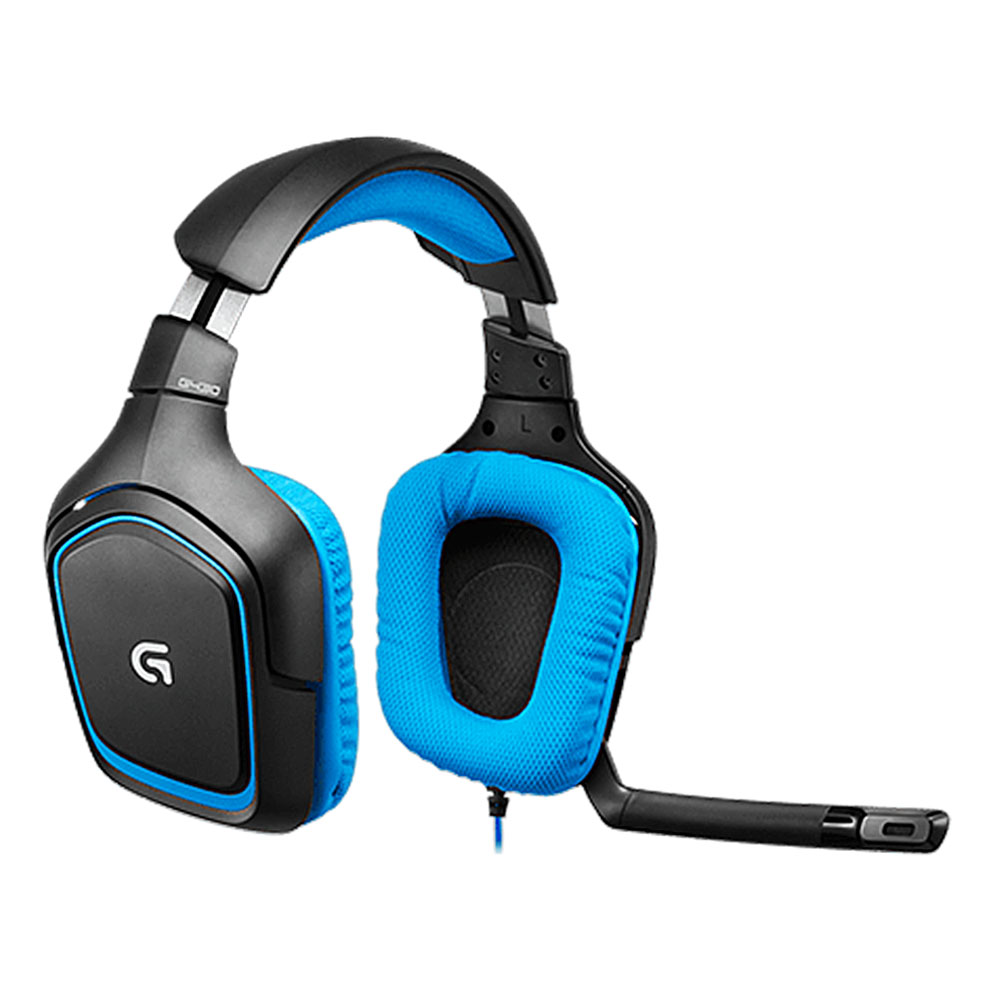 Logitech G430 Surround Sound Wired Gaming Headphone Folding Noise Canceling Headset - Blue