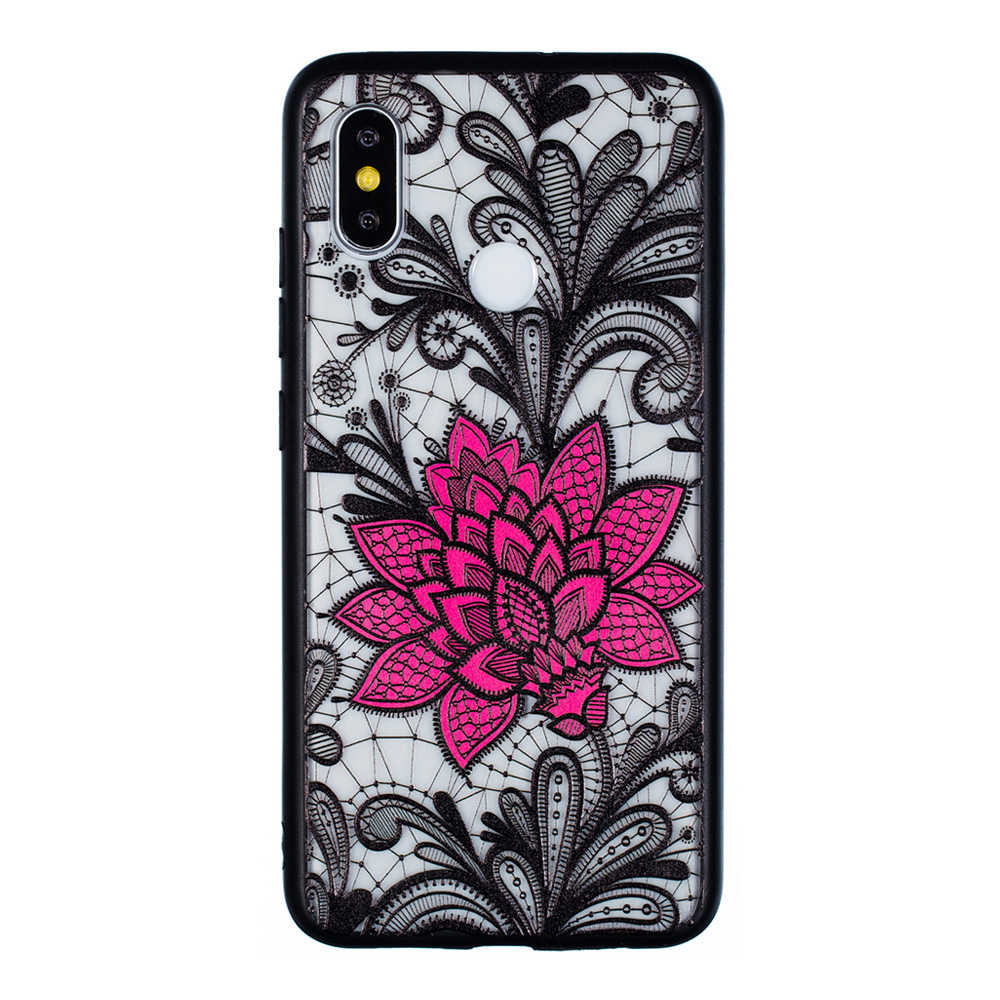 Emboss Flower Phone Case for Xiaomi Mi 8 Protective Air Shell TPU Back Cover - Transparent фото