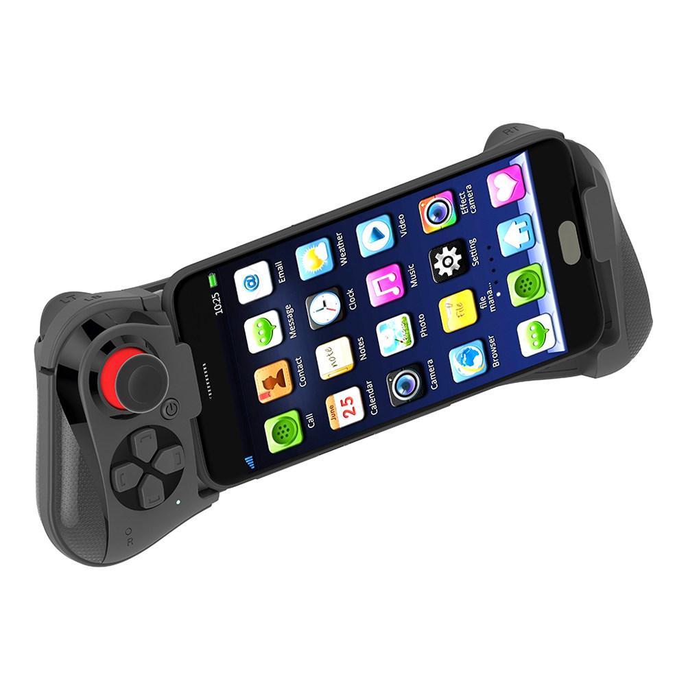 MOCUTE 058ワイヤレスBluetoothの片手用ゲームコントローラ、Android / iOS用のテレスコピックゲームパッド付き - ブラック
