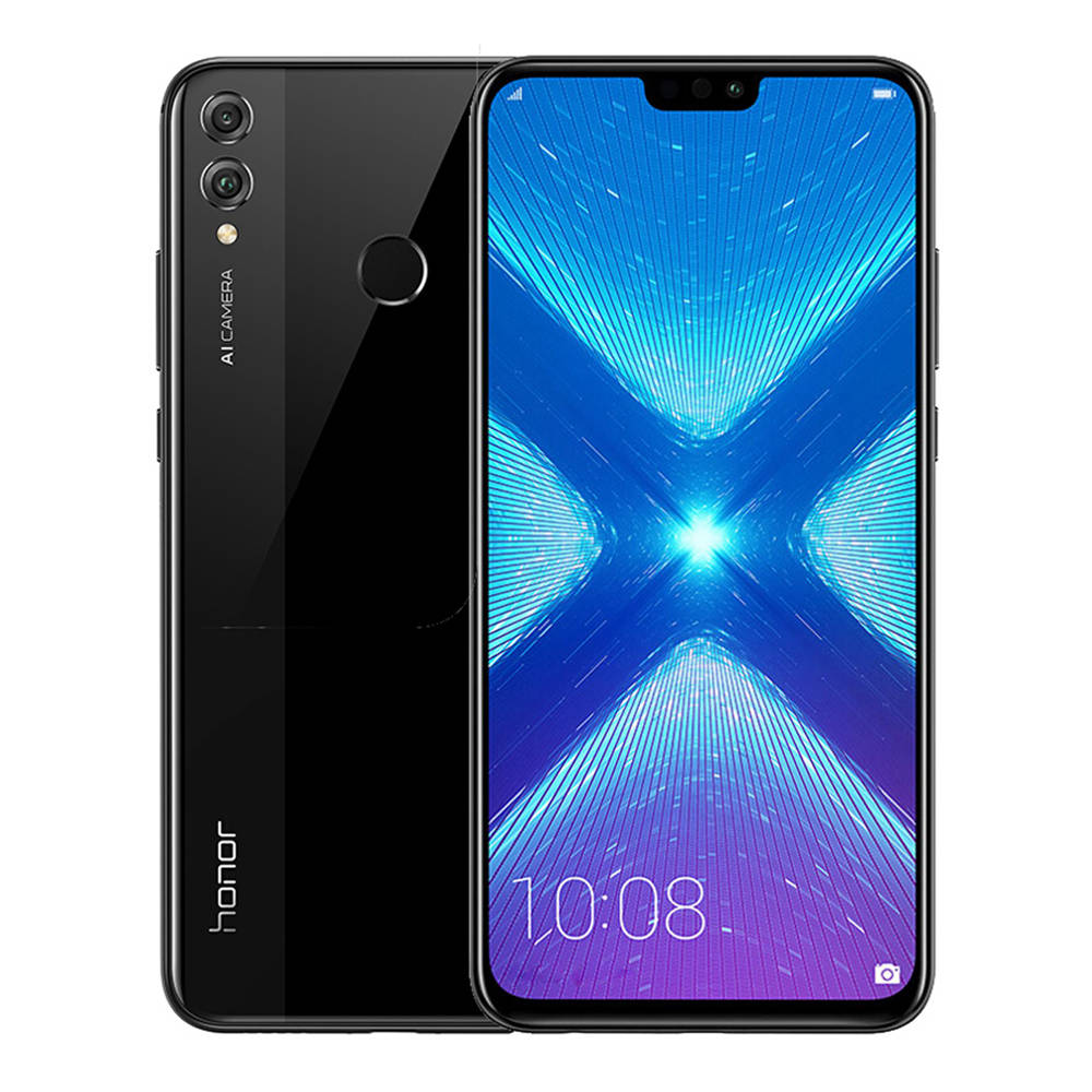 HUAWEI Honor 8X 6.5 Inch FHD+ Full Screen 4G LTE Smartphone Kirin 710 6GB 128GB Dual 20MP Rear Cameras Android 8.1 Touch ID - Black