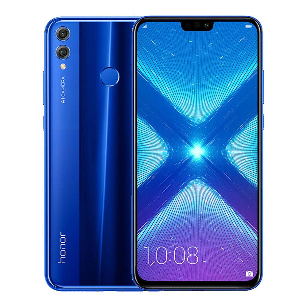 HUAWEI Honor 8X CN גרסת 6.5 אינץ FHD + מסך מלא 4G LTE Smartphone טלפון סלולרי Kirin 710 6GB 128GB 20.0MP + 2.0MP מצלמות אחוריות כפולות אנדרואיד 8.1 Touch ID - כחול