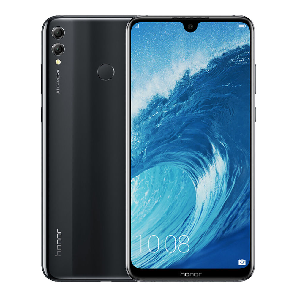HUAWEI Ehre 8X Max 7.12 Zoll 4G LTE Smartphone Snapdragon 636 4GB 128GB 16.0MP + 2.0MP Doppelrückfahrkameras Android 8.1 Touch ID Schnellladung 5000mAh - Schwarz
