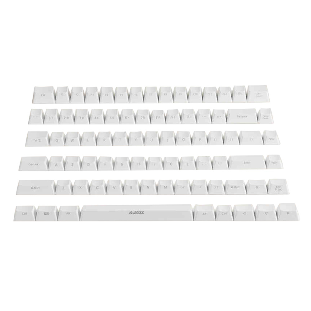 Ajazz Ak33 82 Keys Keyboard Keycap Set ABS Backlit For Mechanical Keyboards Side Engraved - White