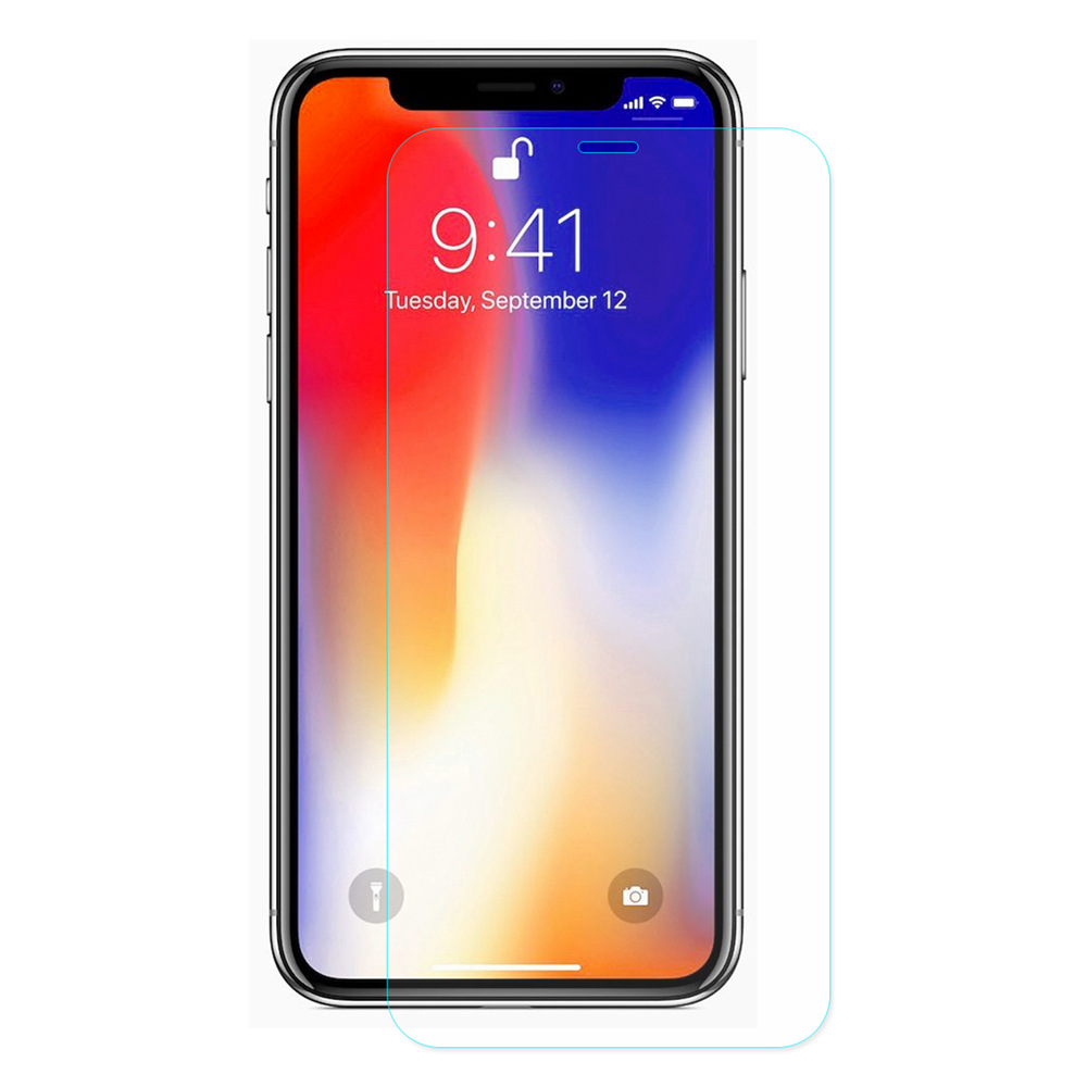 Hat-Prince Tempered Glass for iPhone XR 6.1 Inch 0.26mm 9H 2.5D Protective Film Explosion-proof Membrane - Transparent