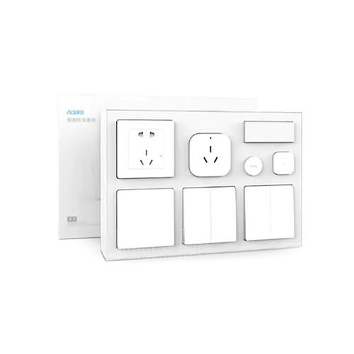 Xiaomi Aqara Smart Bedroom 7 in 1 Kit Air Conditioner Mate Humidity Sensor Body Sensor Wall Socket Wall Switch Wireless Switch(Zigbee Version) Works with Apple Homekit - White