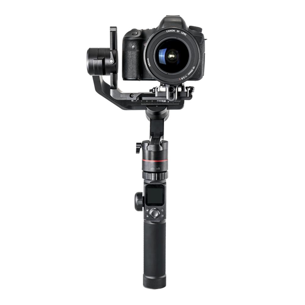 FeiyuTech AK4000 3 tengelyes kézi gimbal stabilizátor LCD érintőképernyővel Max. Terhelés 4kg tükör nélküli DSLR fényképezőgéphez - fekete