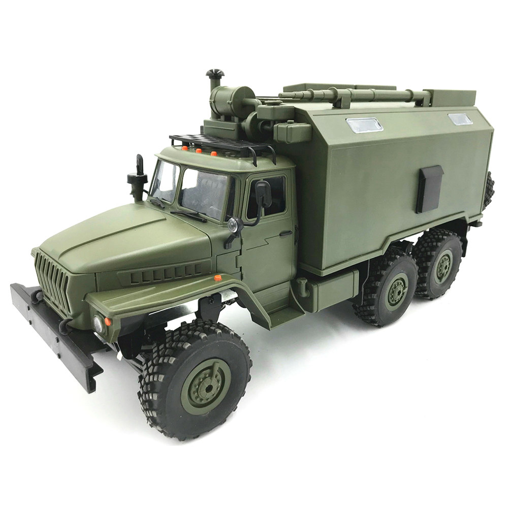 WPL B36 Ural 2.4G 1:16 6WD Off-road RC Car Rock Crawler Military Truck with Yellow LED Lights RTR - Army Green