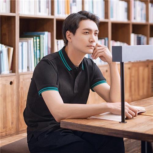 Xiaomi 90 Fun Classic Stripe Polo Shirt Tessuto traspirante Wicking Umidità Taglia L - Nero
