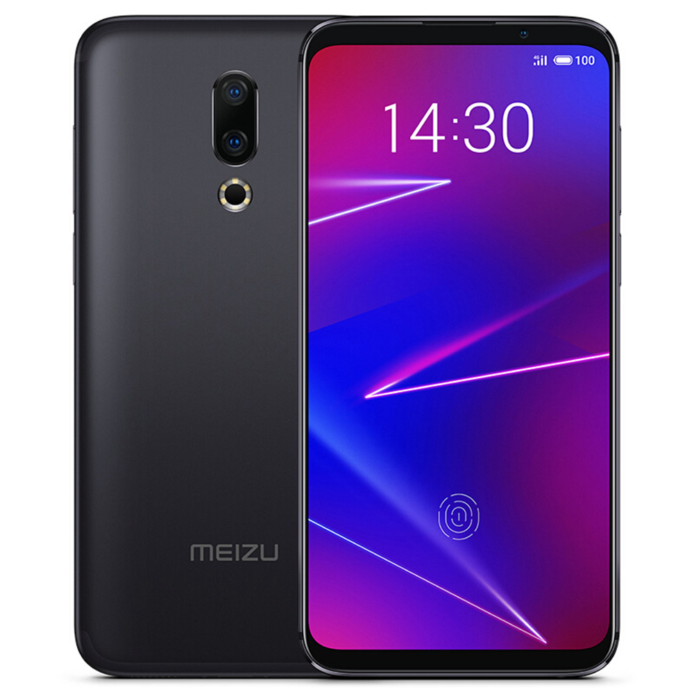 Meizu 16X 6.0 Inch 4G LTE Smartphone Snapdragon 710 6GB 64GB 12.0MP+20.0MP Dual Rear Cameras Android 8.1 In-Display Fingerprint Full Screen - Black