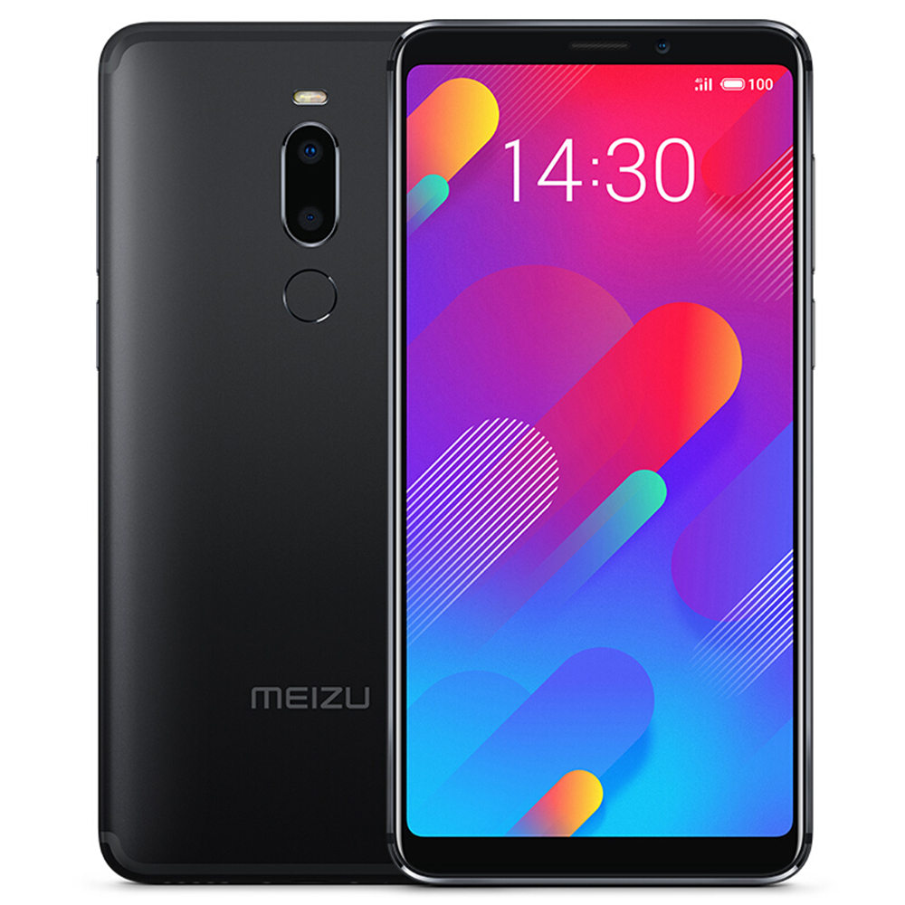 Meizu V8 5.7 Inch 4G LTE Smartphone Helio P22 4GB 64GB 12.0MP+5.0MP Dual Rear Cameras Flyme 7.1 Face ID Full-Screen - Black