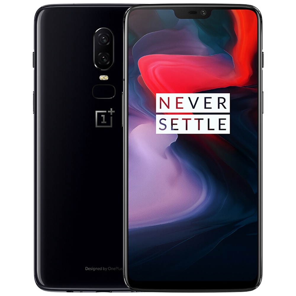 Oneplus 6 6.28 Inch Full Screen 4G Smartphone Snapdragon 845 8GB 128GB 20.0MP+16.0MP Dual Rear Cameras Android 8.1 NFC Dash Charge Type-C - Mirror Black