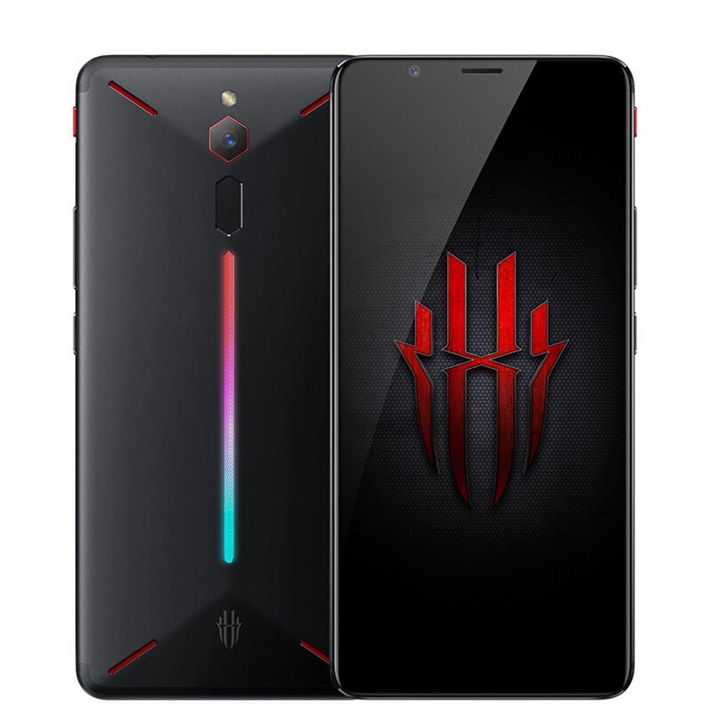 Nubia Red Magic NX609J Глобальная версия 6.0 Inch FHD + Экран 4G LTE Игровой смартфон 8GB 128GB 24.0MP Snapdragon 835 Android 8.1 Type-C Touch ID OTG - черный