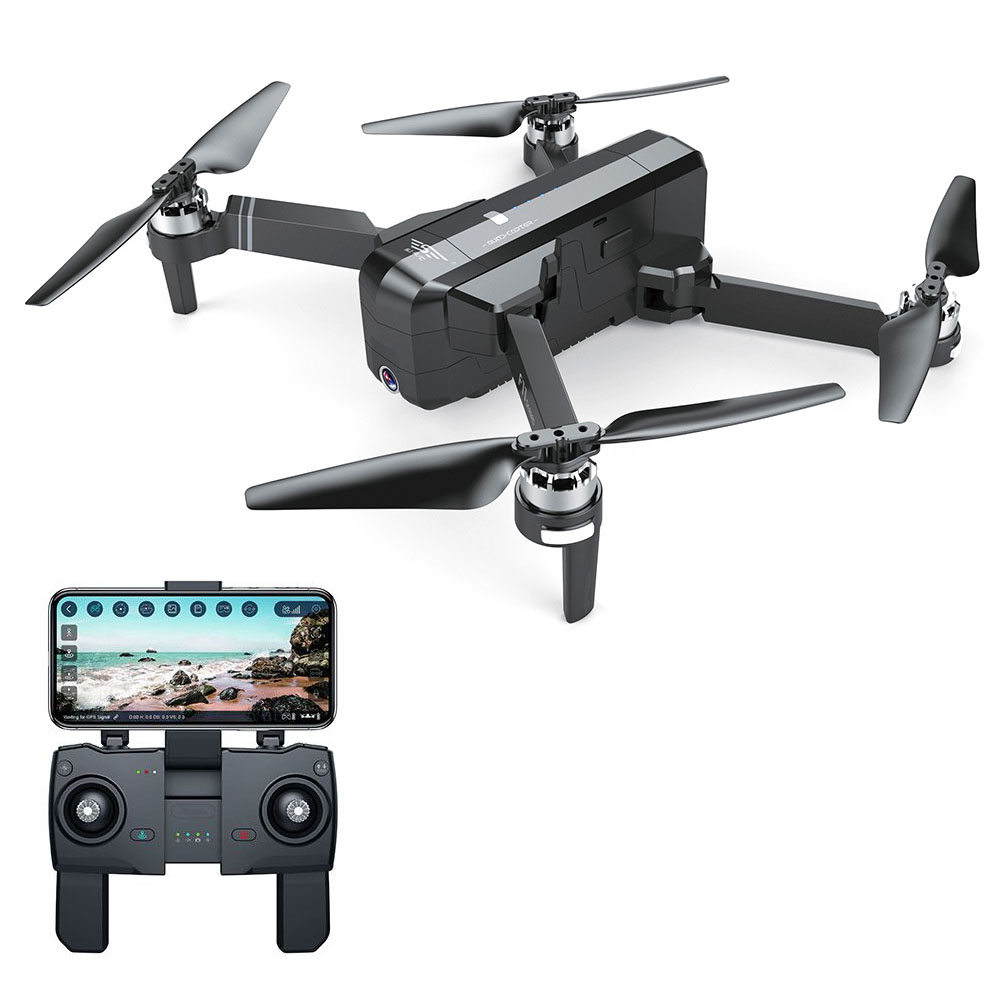 SJRC F11 1080P GPS 5G WiFi FPV Foldable Brushless RC Drone 25min Flight Time RTF - Black