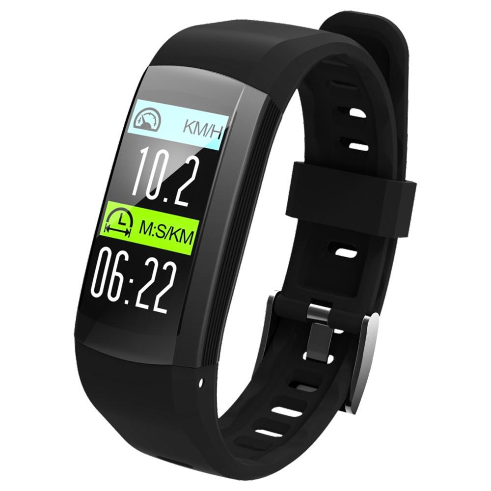 Makibes G04 Smart Bracelet 0.96 Pouce TFT écran couleur IP68 étanche GPS intégré moniteur de fréquence cardiaque Sports Fitness Tracker - noir