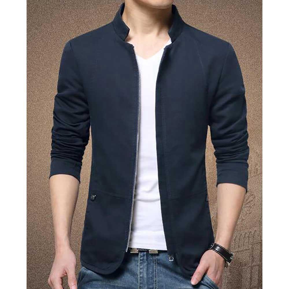 Camicia casual button-up da uomo manica lunga da lavoro autunno (slim fit 100% cotone taglia 5XL) - blu scuro