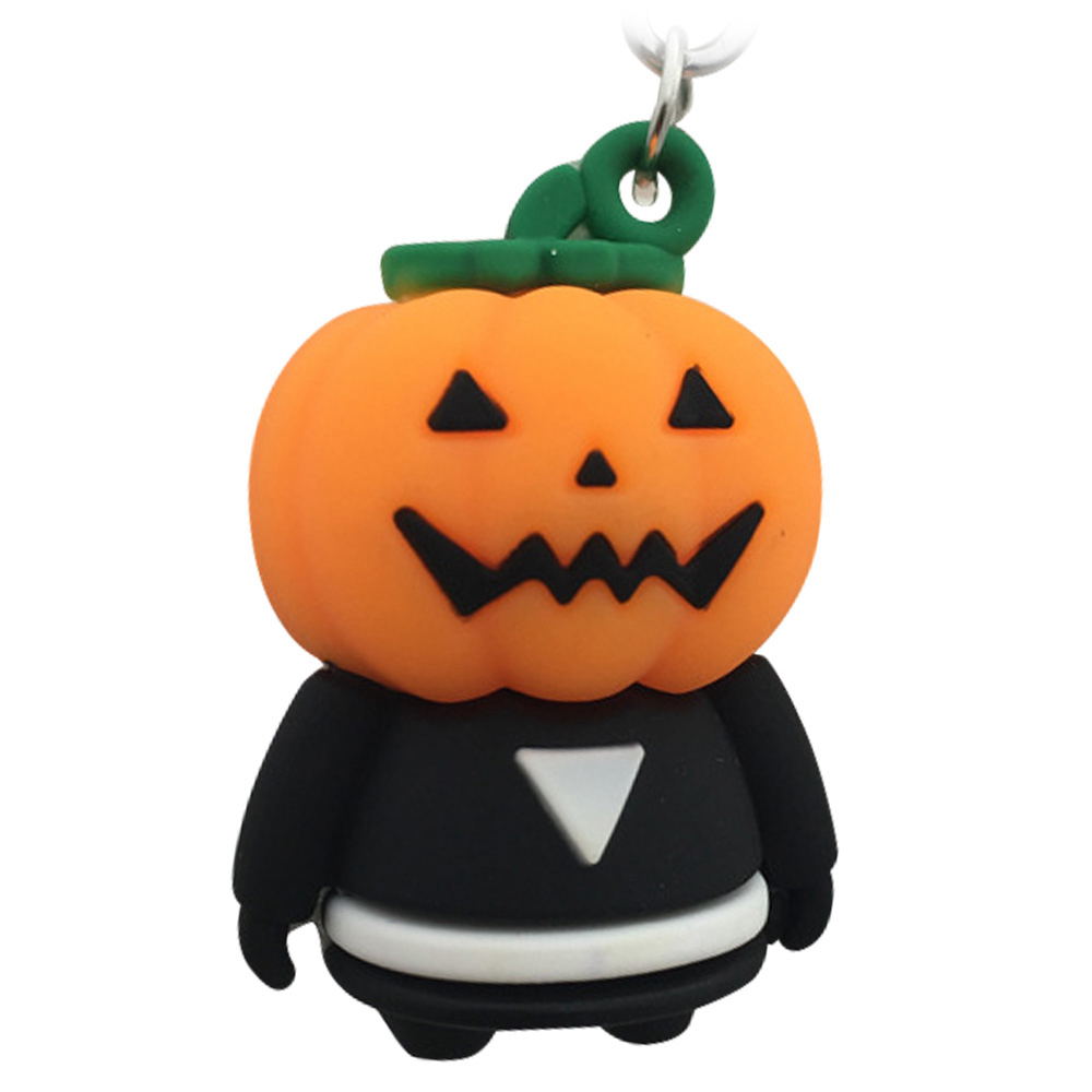 Pumpkin Ghost Silicone Keychain New Halloween Creative Gift - Multi