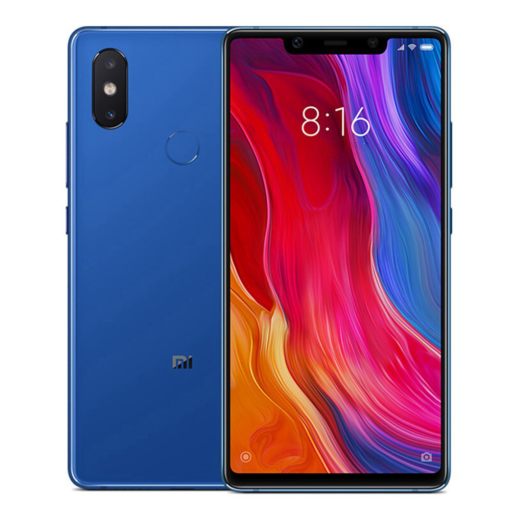 Xiaomi Mi 8 SE 5.88 Inch 4G LTE Smartphone Snapdragon 710 6GB 64GB 12.0MP+5.0MP Dual AI Cameras MIUI 9 Infrared Type-C Face ID Fast Charge English and Chinese Version - Blue