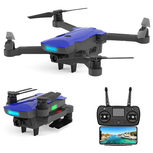 AOSENMA CG033 5G 1080P FHD WIFI FPV RC Drone Servo Gimbal Foldable Brushless with GPS Follow Me Mode RTF - Blue