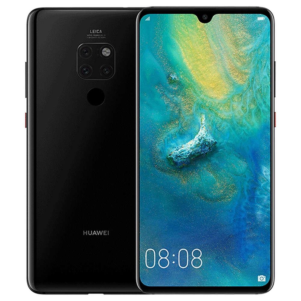 HUAWEI Mate 20 6.53 Inch 4G LTE Smartphone Kirin 980 6GB 64GB 12.0MP + 16.0MP + 8.0MP Triple Rear Camera EMUI 9 Type-C NFC IR Remote Control - Nero brillante