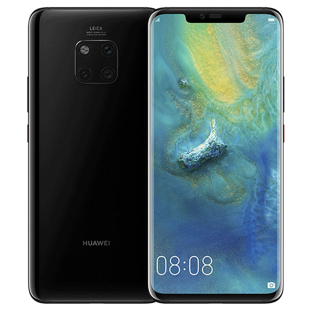 HUAWEI Mate 20 Pro 6.39 Inch 4G LTE Smartphone Kirin 980 6GB 128GB 40.0MP + 20.0MP + 8.0MP Triple Rear Camera EMUI 9 Type-C NFC IR Remote Control - Nero brillante
