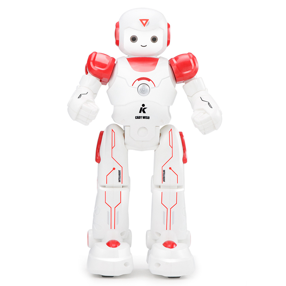 JJRC R12 Cady Wiso Programmable Dancing RC Robot Patrol Display Colorful Lights Kids Toys - Red