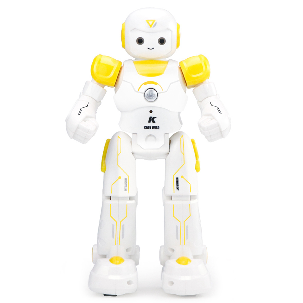 JJRC R12 Cady Wiso Programmable Dancing RC Robot Patrol Display Colorful Lights Kids Toys - Yellow
