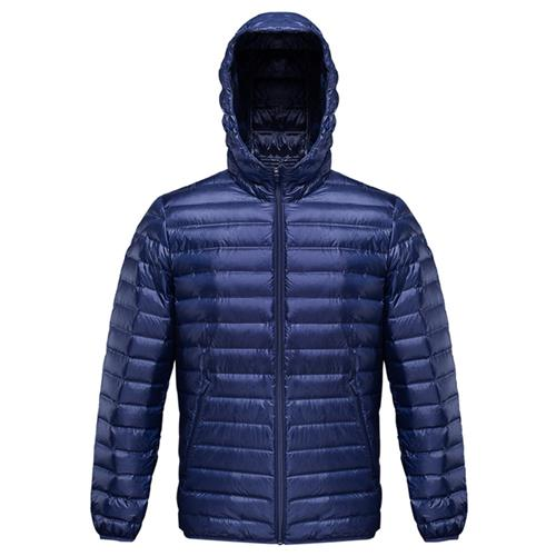 Xiaomi 90Fun Men's Hooded Down Jacket (Lightweight Seamless 90% Goose Down Size XL) - Blue