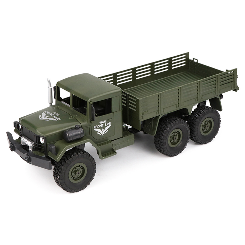 JJRC Q63 Transporter-4 2.4G 1:16 6WD Brushed Off-road RC Car Military Truck RTR - Army Green