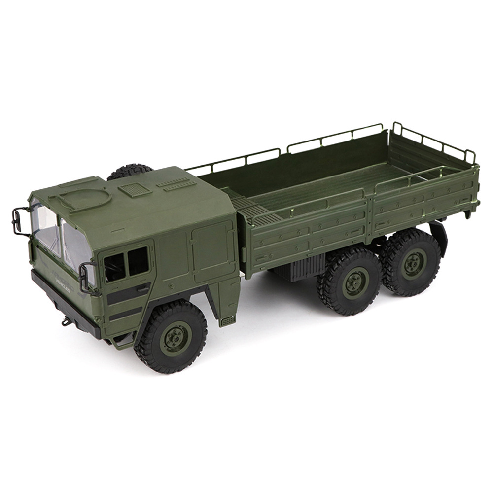 JJRC Q64 Transporter-5 2.4G 1:16 6WD Brushed Off-road RC Car Military Truck RTR - Army Green